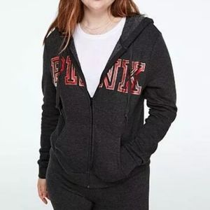 New pink Victoria's secret zip up hoodie jacket